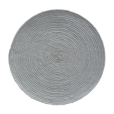 Placemat, round, dia. 40 cm, cotton, mist