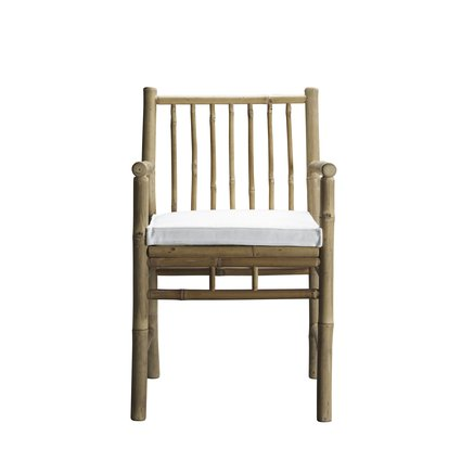 Dining table chair w. armrest with white mattress
