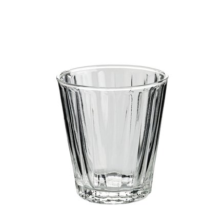 Glass w. grooves for tea, H10