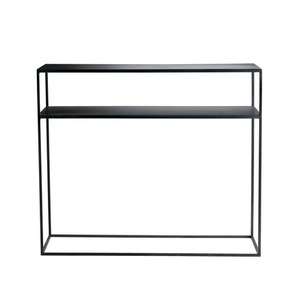 Metal console table w. shelf, 35x100xH85, Phantom