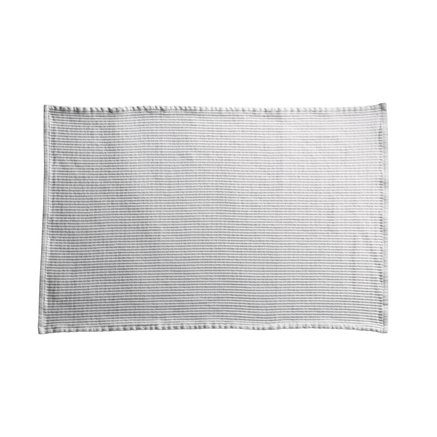 Bath mat with woven groove texture, 60 x 90 cm, white