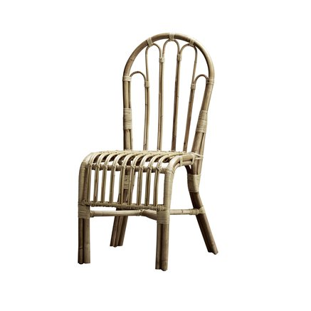 Dining chair in rattan, no arm rest, 40 x 48 x H 44/94 cm, nature