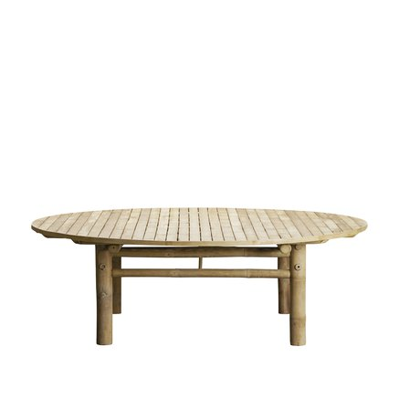 Bamboo lounge table, D140xH45, natural