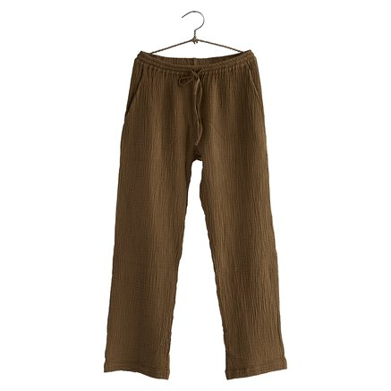 Pants, size 1 - S/M, cotton, walnut