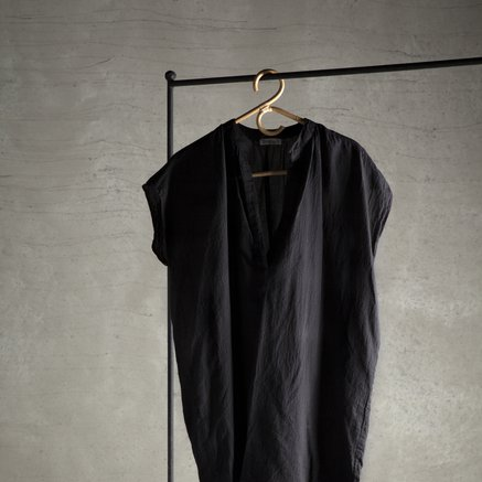 Tunic, 100% cotton, one size, black