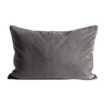 Cushion cover, 50x75, velvet, grey