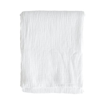 Throw, 140 x 200 cm, cotton, white