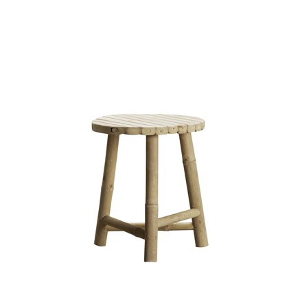Bamboo stool, D30xH35, natural
