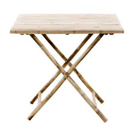 "Bamboo table, 80x80xH72, ""folding table"", nature"