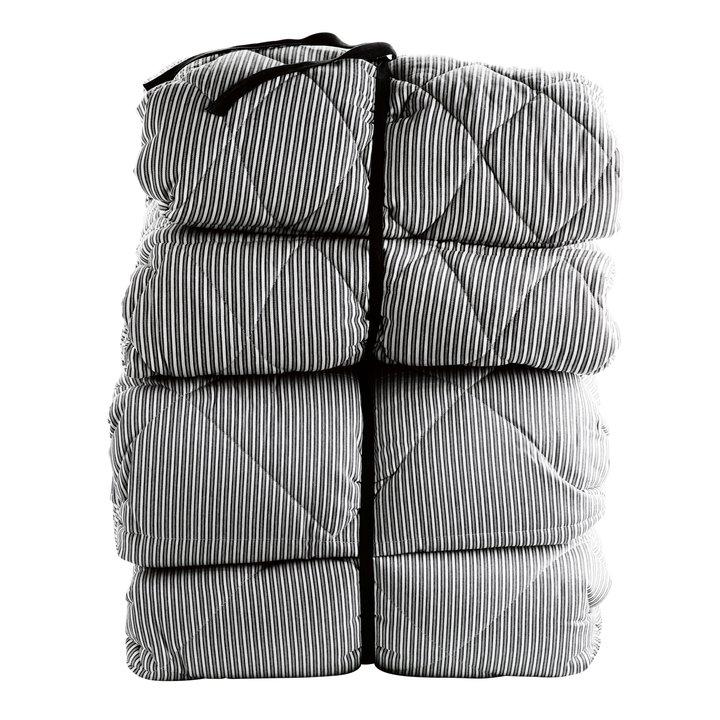 vattæppe Vattæppe, 260x260, bomuld, stribet, sort/hvid | Produkter | Tine K  vattæppe