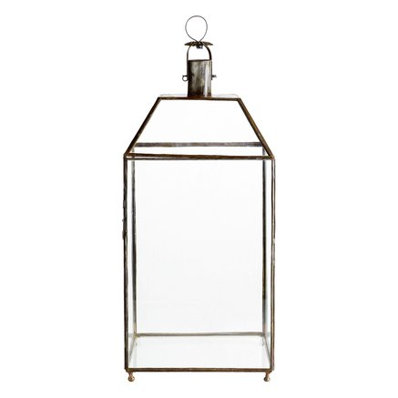 Simple 4 sided glass lantern, XL, H70