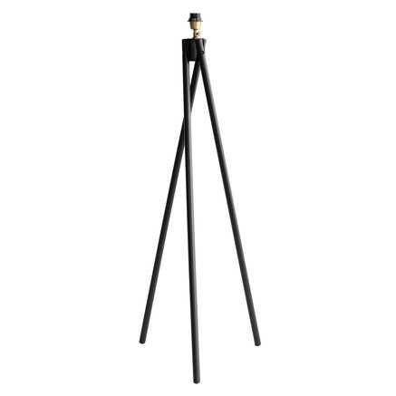 Lamp w. three legs,  pine wood, H 122 cm, L, black