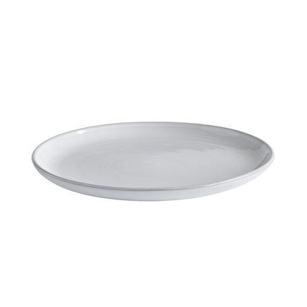 Dinner plate, glazed stonewear, dia 29xH3 cm,white