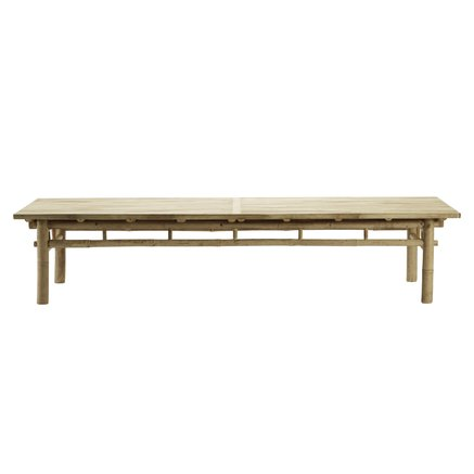 Bamboo lounge table, 70x170xH35 cm, natural