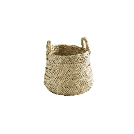 Weaved basket with handles, small