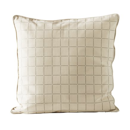 Cushion cover, checked, 50x50 cm, bomuld, agave