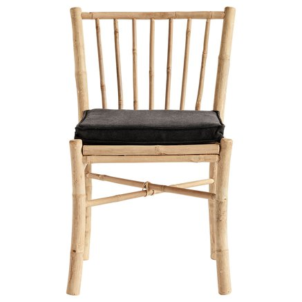 Bamboo dining chair, phantom cushion