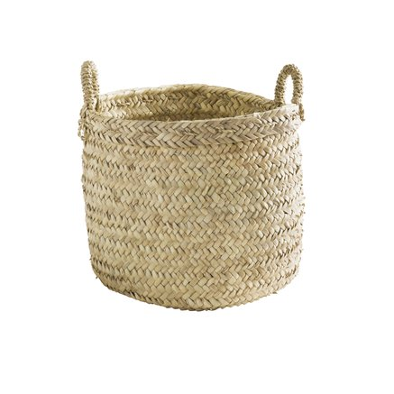 Weaved basket with handles, large