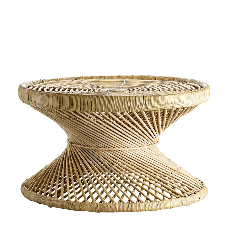 Round Rattan Coffee Table For The