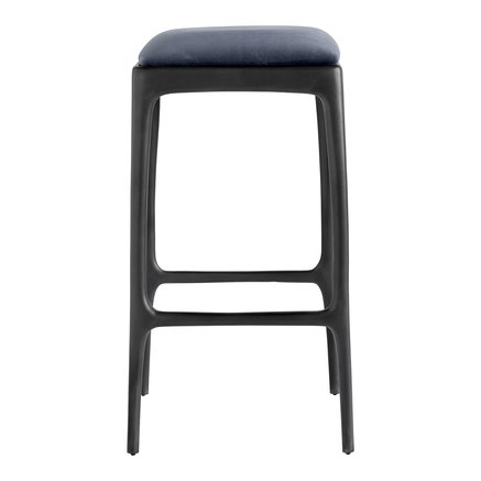 Bar stool, recycled aluminium, 40x40xH75 cm, navy