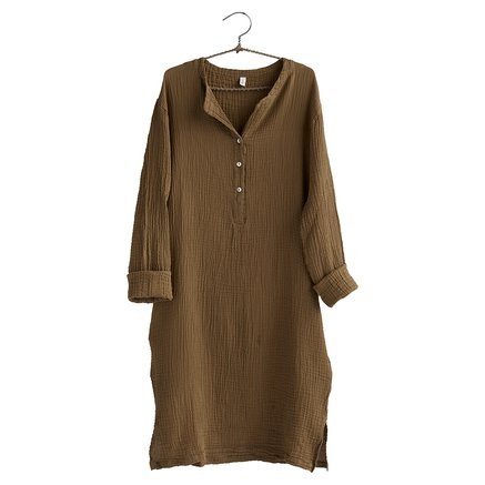 Dress, size 1 - S/M, cotton, walnut