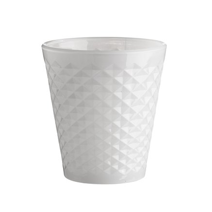White facet vase