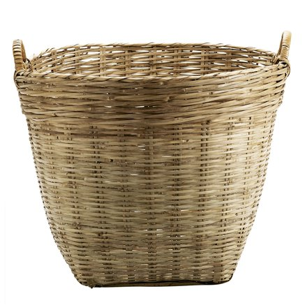 Marked basket D65xH60 , w. handles, L, natural