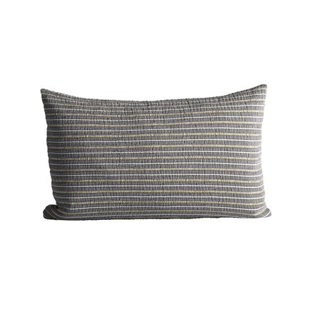 Cushion cover in fine woven and striped texture, 40 x 60 cm, phantom