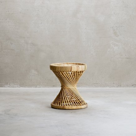 Small table in rattan