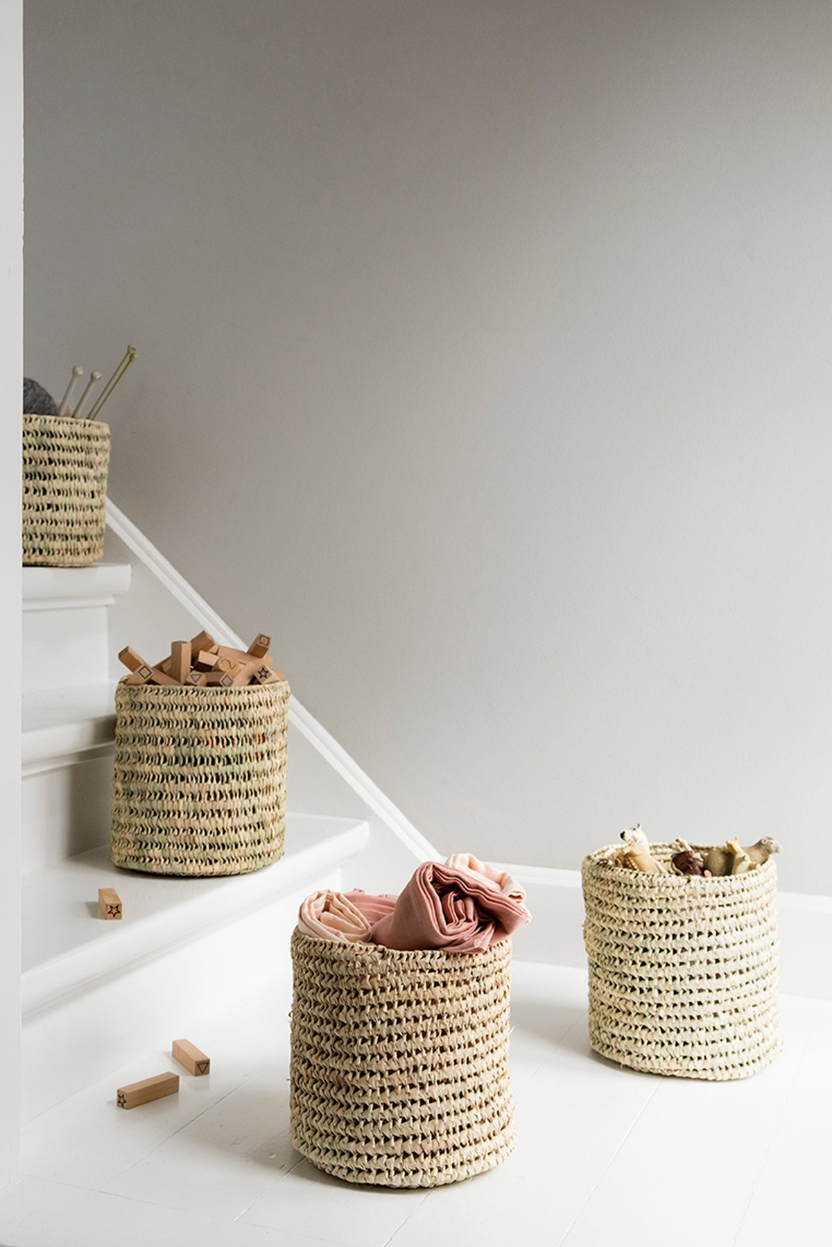 storage for kids room - basket for many decor ideas
