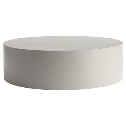 Table, metal, dia 85 x H 25 cm, grey