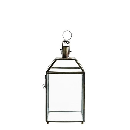 Simple 4-sided glass lantern, S, H40