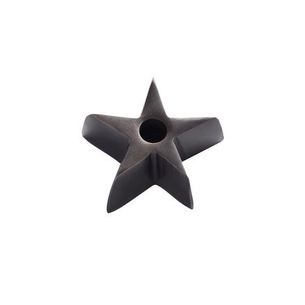 Candle holder, small star, antique brass color