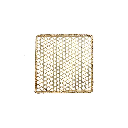 Deco item for wall, open woven, 100x100, natural