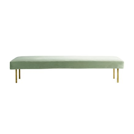 Daybed with brass legs, moss