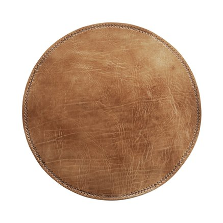 Brown leather place mat
