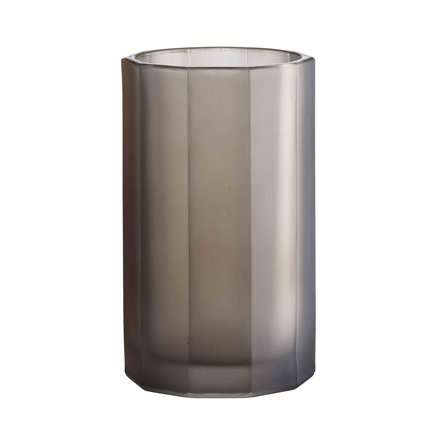 Pleated vase, grey