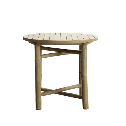 Bamboo round side table, D 50 cm