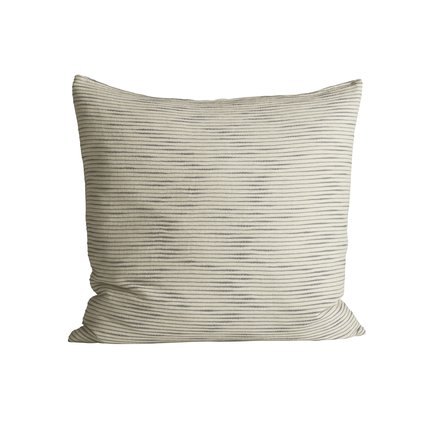 Thick woven cushion cover with horisontal stripes, 60 x 60 cm, ash