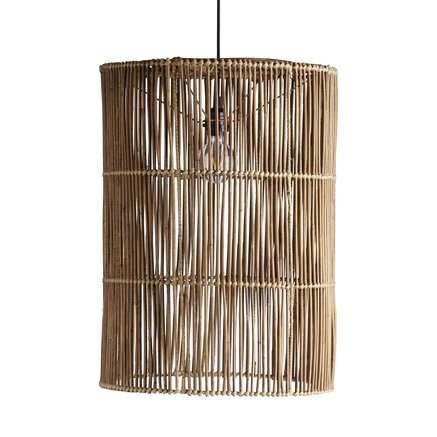 Large lamp shade in rattan