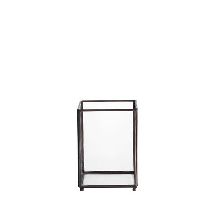 Square glass lantern, mini