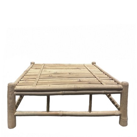 Bamboo lounge table, 76x76xH29 cm