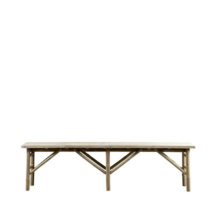 Bamboo bench, 170 x 35 x H 45 cm, natural