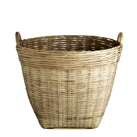 Marked basket D45xH38 w. handles, M, natural