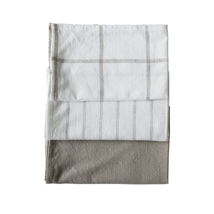 Kitchen towel, 60x80 cm,ass stripe/check/plain,kit