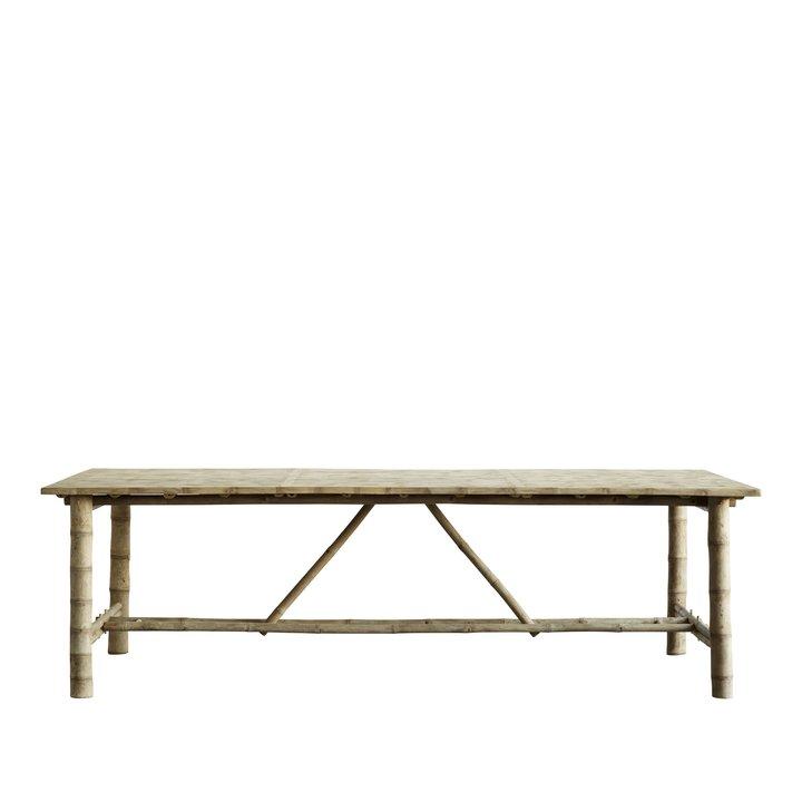 Bambus Spisebord 250x100xh75 Cm Natur Produkter Tine K Home