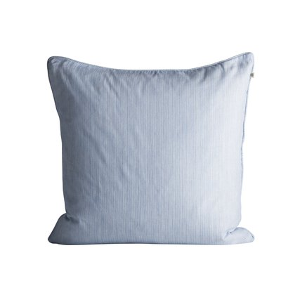 Thin striped cushion cover with piping, 50 x 50 cm, baby blue