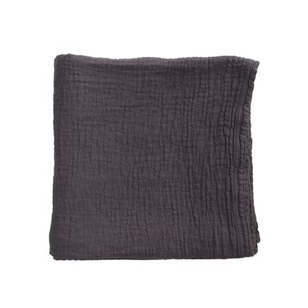 Bed throw, solid col,140x220 cm, 100% cotton, phantom