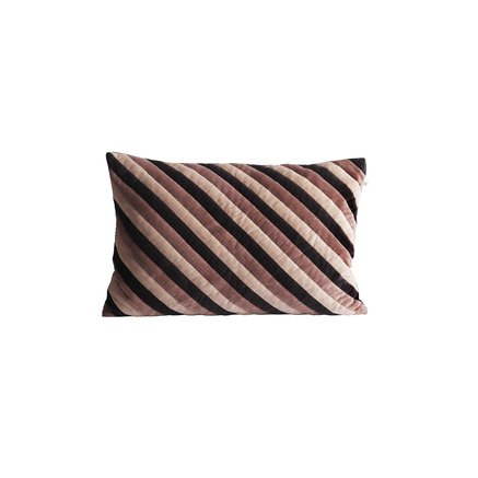 Cushion cover, 40x60, velvet, striped thunder