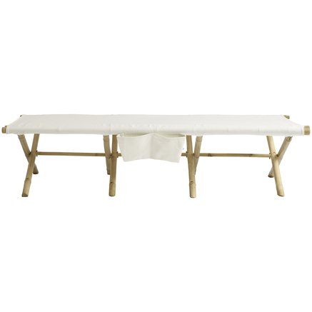 Daybed, foldable, 180 x 80 cm, white